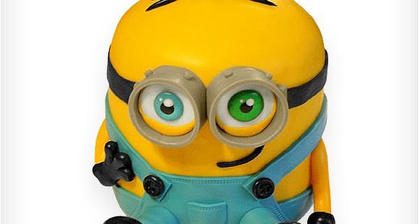 Motivtorte/Thementorte in 3D als Minion zum Geburtstag