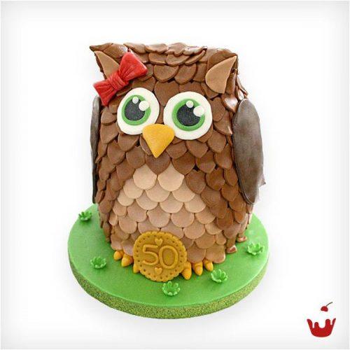 Geburtstagstorte Eule Torte Zum 50ten Jubilaum Hamova Konditorei