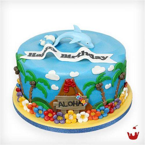 Hamova Thementorte/Motivtorte Geburtstagstorte - Gute Reise - Aloha