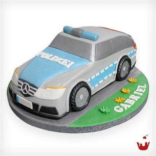 Hamova Thementorte/Motivtorte Geburtstagstorte 3D Torte Polizeiauto