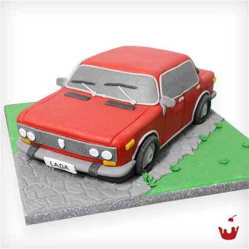 Hamova Thementorte/Motivtorte Geburtstagstorte 3D Torte Lada Auto