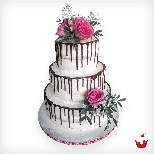 Hamova-Hochzeitstorte - Dripping Cake