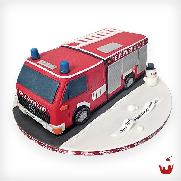 Hamova-Firmentorte-Feuerwehr-Auto